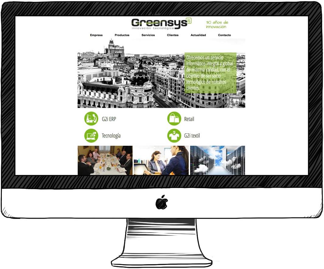 diseño y desarrollo web para greensys it