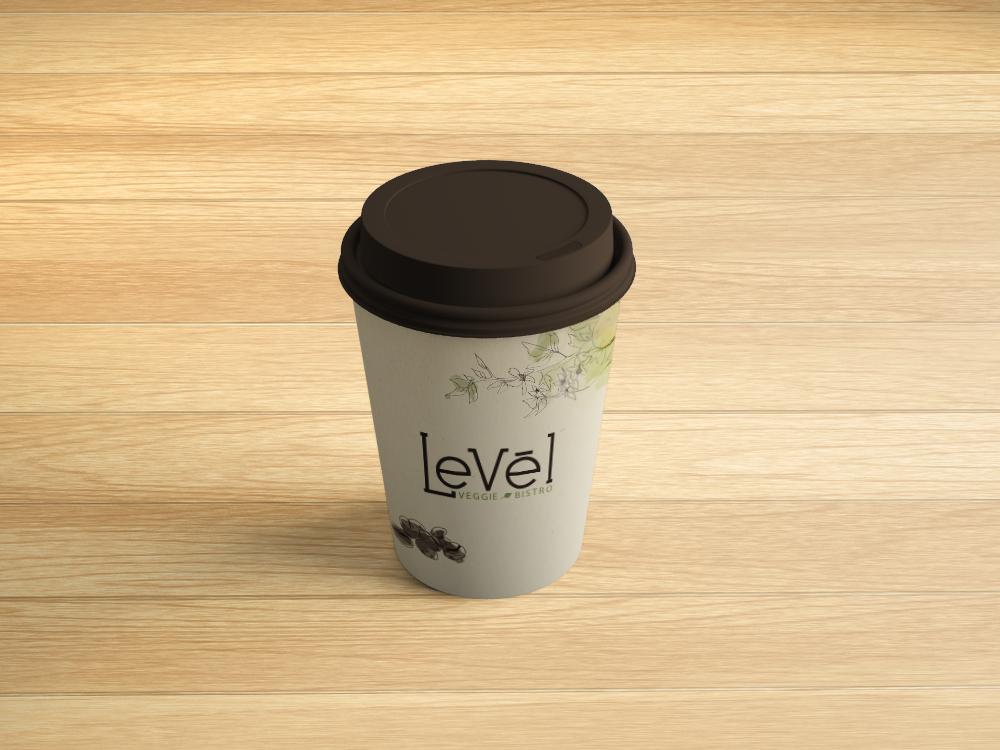 Vaso de Levél donde se puede servir café calentito para llevar
