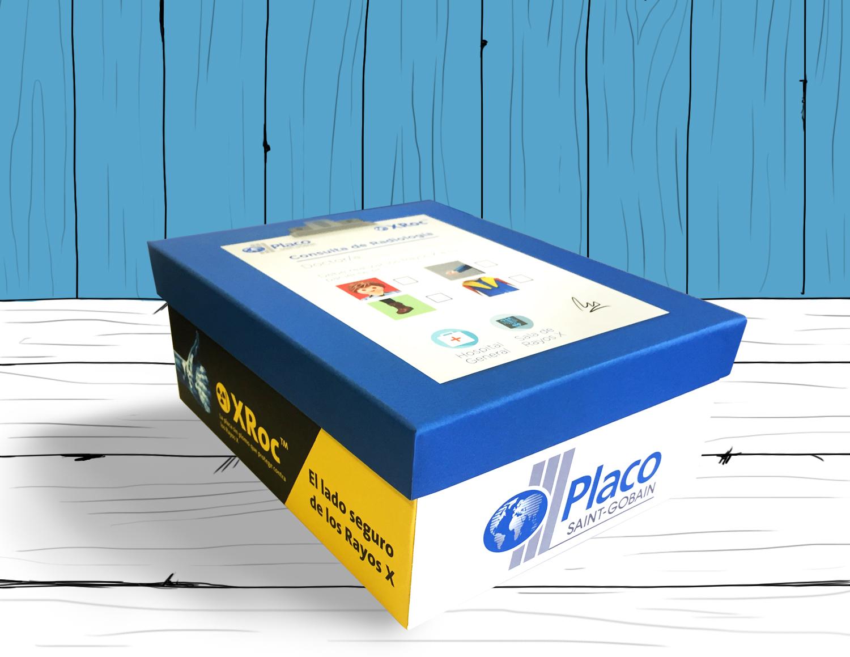 Diseño exterior y lateral de la caja Placo