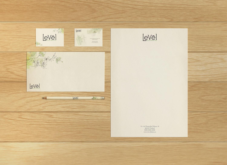 diseno-papeleria-restaurante-level