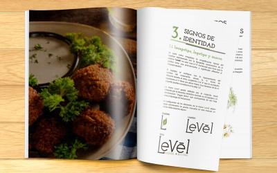 Identidad corporativa restaurante Levél