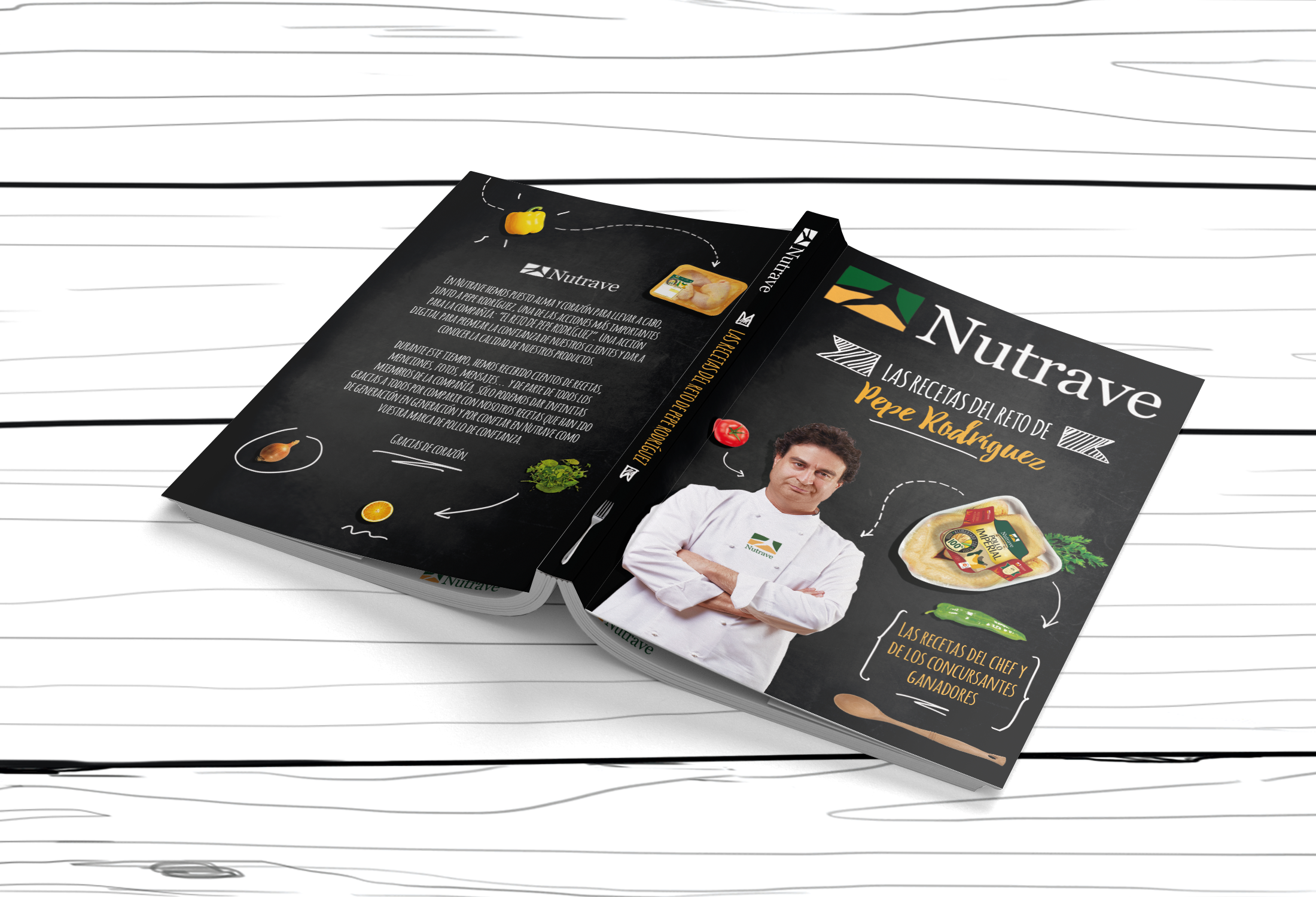 Exterior libro de recetas Nutrave con Pepe Rodríguez